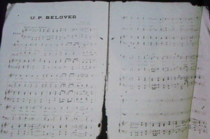 The UP Beloved Song piano notes