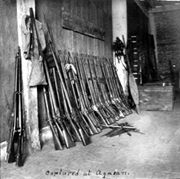 The Captured M1871 Spanish Remington rifles of the First Company Mindanao Battalion