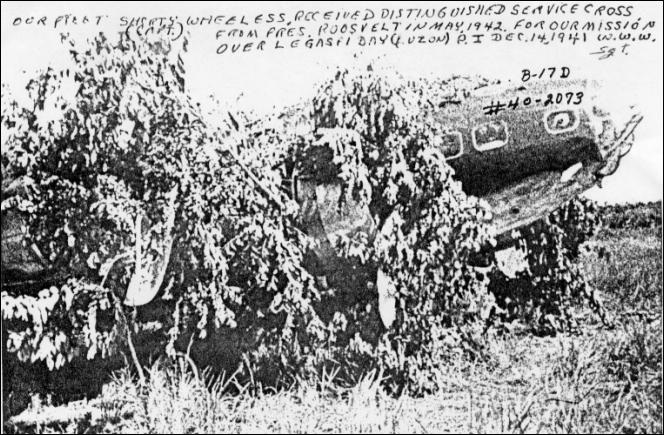 Dec 14, 1941  Crash landed on parade field Cagayan City Mindanao Island PI