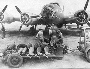 A B-17 is being prepared by the ground crew. Scenes like these are the norms during 1941 to May 1942
